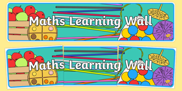 Maths Learning Wall Display Banner - numeracy, header, display