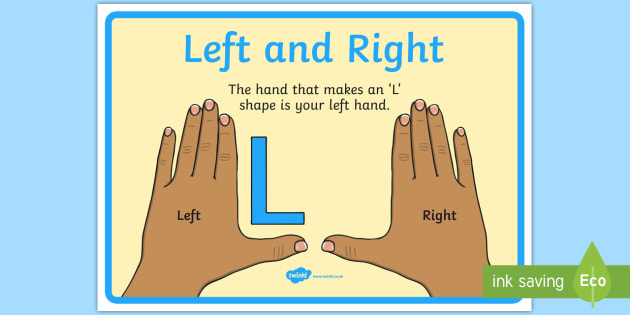 👉 Left and Right Display Poster (teacher made)