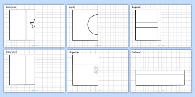 Football World Cup Symmetry Worksheets - sports, pe, numeracy