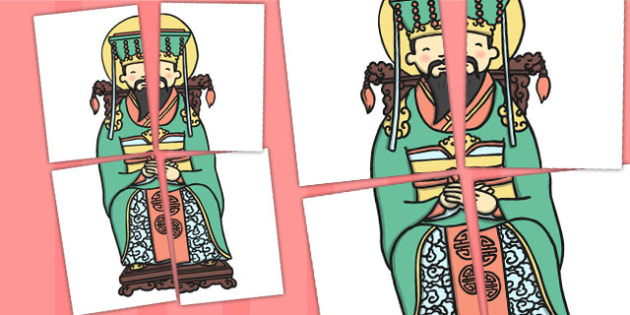 Chinese Emperor Large Display Cut Out - chinese, emperor, Australia