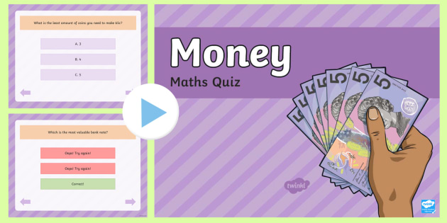 Money Maths PowerPoint Quiz - australia, money, maths, quiz