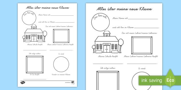 alles ber meine neue klasse arbeitsblatt schule neue schule erster. Black Bedroom Furniture Sets. Home Design Ideas