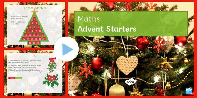 maths advent calendar starter powerpoint maths advent. Black Bedroom Furniture Sets. Home Design Ideas