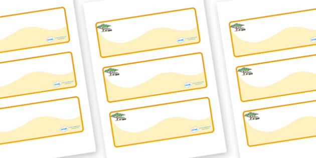 Safari Themed Editable Drawer-Peg-Name Labels (Colourful) - Themed Classroom Label Templates, Resource Labels, Name Labels, Editable Labels, Drawer Labels, Coat Peg Labels, Peg Label, KS1 Labels, Foundation Labels, Foundation Stage Labels, Teaching L