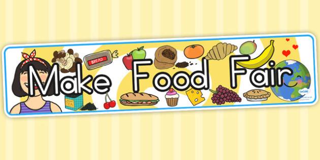 Make Food Fair Display Banner - fairtrade, fair trade, header