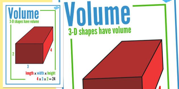 Volume Display Poster - volume, display, poster, display poster, maths