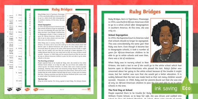 Black history month ruby bridges ks2 differentiated reading black history month ruby bridges ks2 differentiated reading comprehension activity ibookread PDF