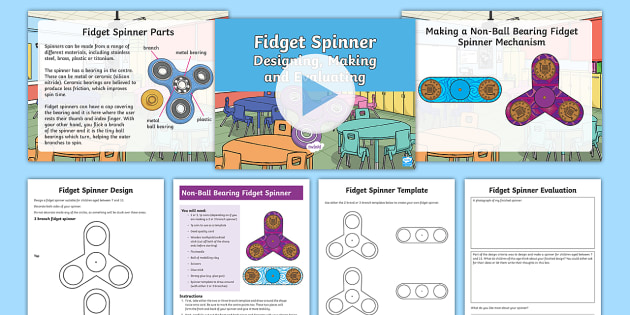 KS2 Making Fid Spinners Resource Pack fid spinner