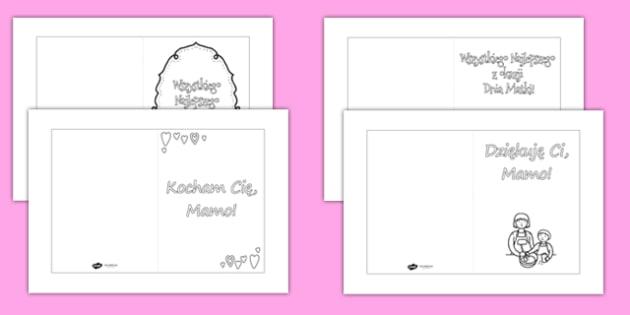 Kartki Do Kolorowania Dzien Matki Teacher Made