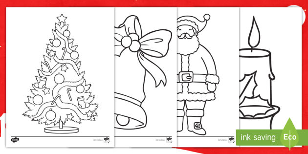 Christmas Coloring Activity Pages Sheets December Holiday Twinkl