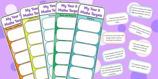 Year 6 Maths Assessment Bookmarks and Cut Outs - math, assessment