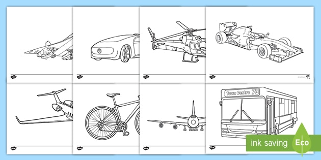 Free Modern Transport Coloring Sheets Teacher Made