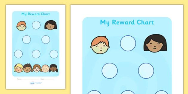 Ourselves Sticker Reward Chart (30mm) - Ourselves Reward Chart (30mm), reward chart, chart, ourselves, reward, 30mm, stickers, twinkl stickers, award, certificate, well done, behaviour management, behaviour