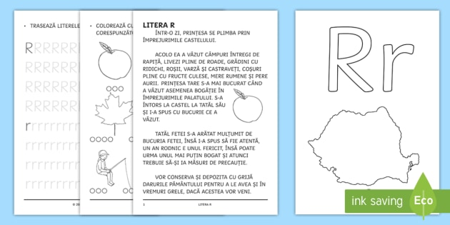 învățăm Litera R R Broșură Cu Activități Litera R Clasa