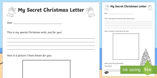 My Secret Christmas Letter - Christmas Australia, christmas, secret, letter writing, letter,Australia
