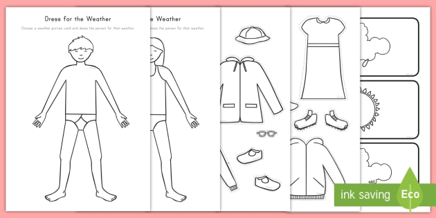Dress For The Weather Worksheet Activity Sheet Weather