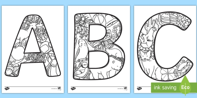 Uppercase Alphabet Themed Mindfulness Colouring Sheetsrhtwinklcouk: Colouring Pages Small Letters At Baymontmadison.com