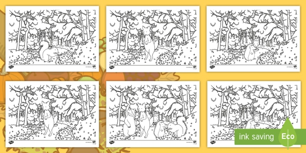 New Woodland Animal Colouring Pages Woodland Colouring Sheets