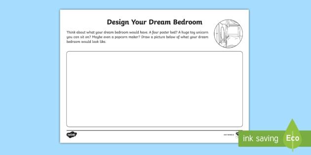 The Home Aistear Design Your Dream Bedroom Worksheet Roi House