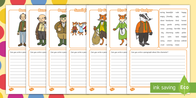 Free Description Writing Frame To Support Teaching On Fantastic Mr Fox