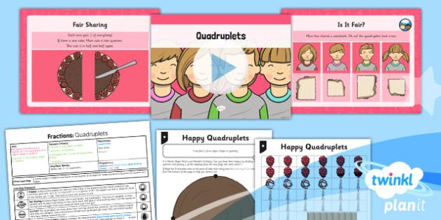 PlanIt Maths Y1 Fractions Lesson Pack Quarters (3)