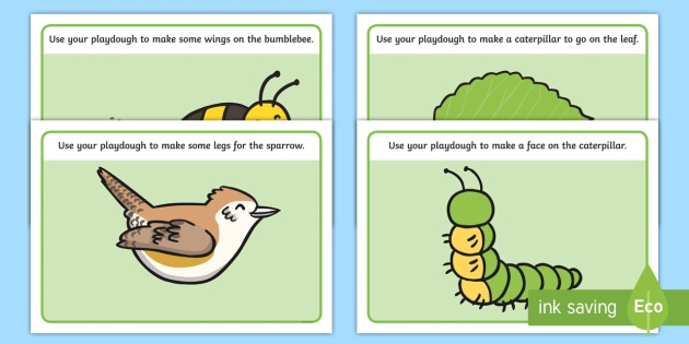 Playdough Mats to Support Teaching on The Crunching Munching Caterpillar - stories