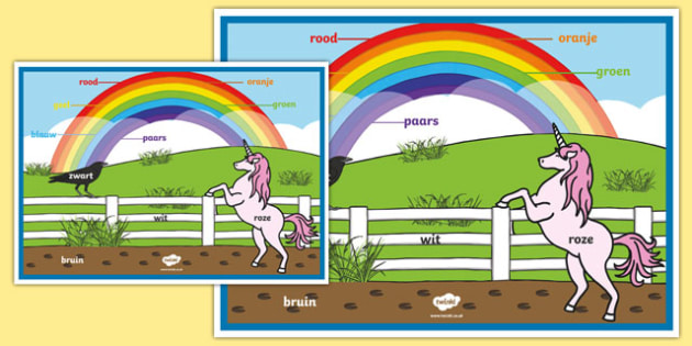 Rainbow Colours - Dutch A2 Display Poster