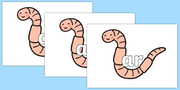 Phase 3 Phonemes on Earthworms - Phonemes, phoneme, Phase 3, Phase three, Foundation, Literacy, Letters and Sounds, DfES, display