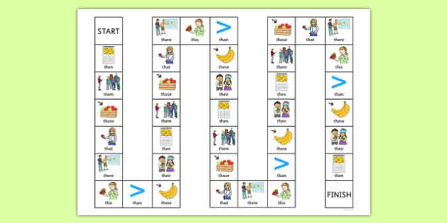 Word Initial Voiced th Board Game - speech sounds, phonology, phonological delay, phonological disorder, articulation, dyspraxia