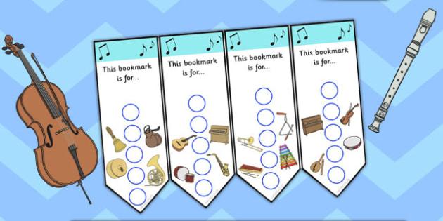 Music Themed Sticker Reward Bookmark 15mm - bookmarks, bookmark, reward bookmark, music reward bookmark, music sticker bookmark, music sticker reward, 15mm