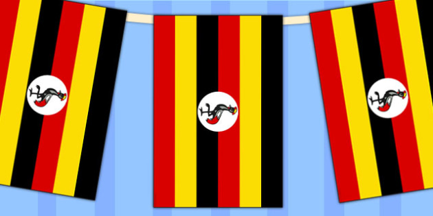 Uganda Flag Display Bunting - country, geography, commonwealth