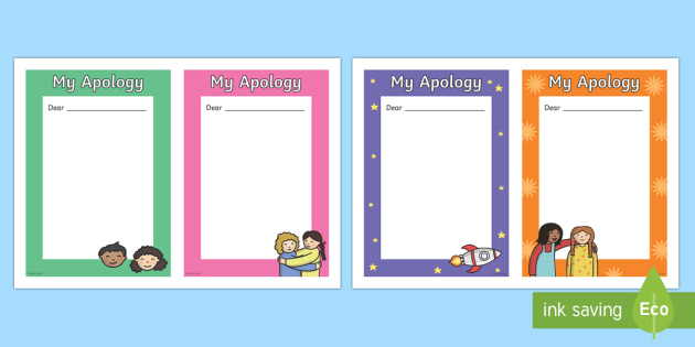 Free Apology Letter Template Teacher Made