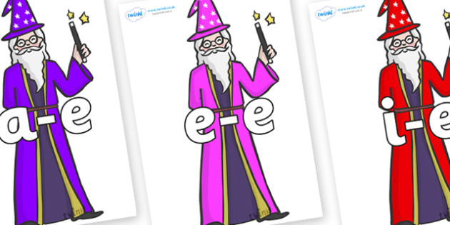 Modifying E Letters on Wizards - Modifying E, letters, modify, Phase 5, Phase five, alternative spellings for phonemes, DfES letters and Sounds