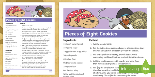 Pieces of Eight Cookies Pirate Recipe Step,by,Step