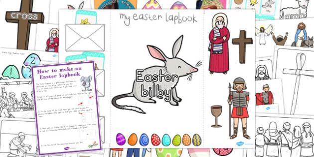 Easter Lapbook Creation Pack - australia, easter, lapbook, pack