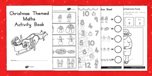 Christmas Themed Maths Activity Book - australia, christmas, math