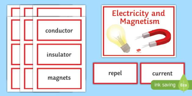 Electricity and Magnetism Word Wall