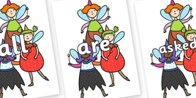 Tricky Words on Good Fairies - Tricky words, DfES Letters and Sounds, Letters and sounds, display, words