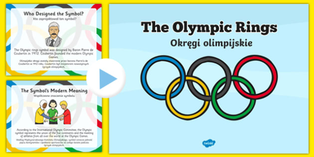History Of The Olympic Rings Powerpoint Polish Translation