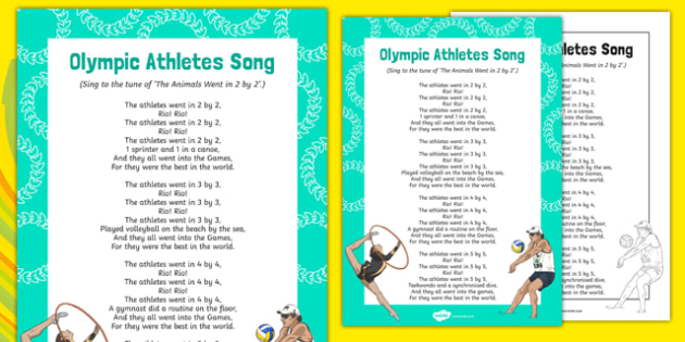 Olympic Athletes Song