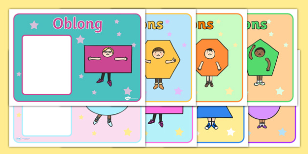 2D Shape Characters Group Signs - 2D shapes, group signs, 2D shapes signs, shapes signs, shapes group signs, 2D shapes group signs