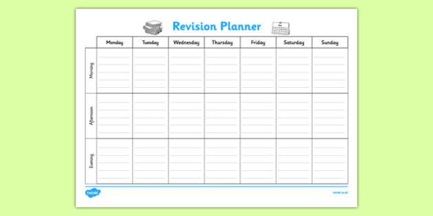Weekly Revision Planner