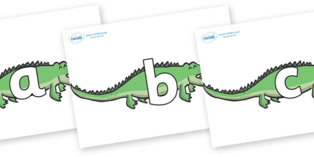Phoneme Set on Crocodiles - Phoneme set, phonemes, phoneme, Letters and Sounds, DfES, display, Phase 1, Phase 2, Phase 3, Phase 5, Foundation, Literacy