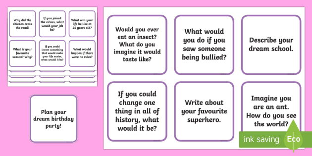 Writing Prompt Jar Busy Bag Prompt Card and Resource Pack - Classroom Management and Organization, writing prompt, writing, prompt, creative, story