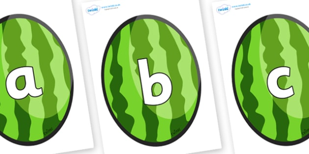 Phoneme Set on Melons (Vertical) - Phoneme set, phonemes, phoneme, Letters and Sounds, DfES, display, Phase 1, Phase 2, Phase 3, Phase 5, Foundation, Literacy