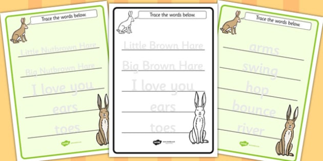 How Much Do I Love You Trace the Words Worksheets - Much, Love