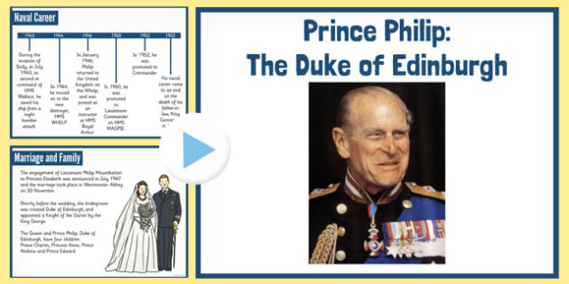 Prince Philip the Duke of Edinburgh PowerPoint - duke, edinburgh