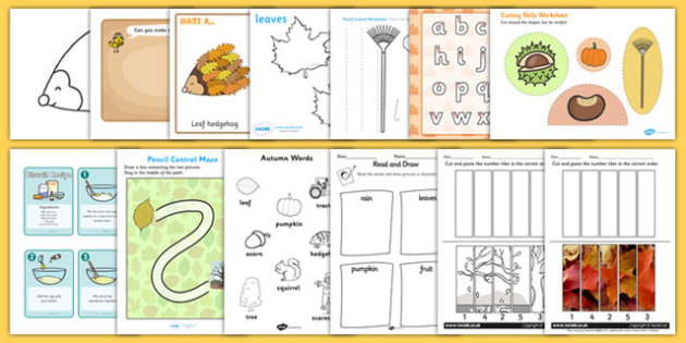 Autumn Themed Fine Motor Skills Pack - motor skills, seasons