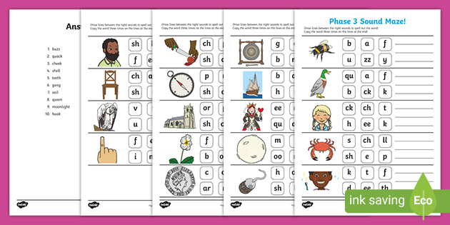 Phase 3 Phonics Sound Maze Worksheet Teacher Made