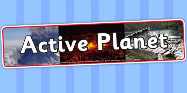 Active Planet IPhoto Display Banner - active planet, display banner, active planet, active planet display banner, planet display